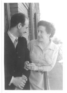 Papá y mamá - retrato en blanco y negro