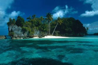 playa isla palmeras y peña