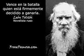 Tolstoi frase batalla
