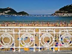 Barandilla y playa SS