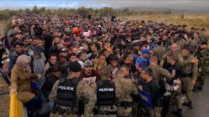 Refugiados policía