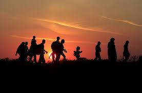 refugiados silueta