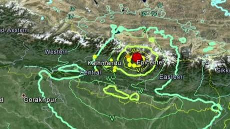 Mapa epicentro terremoto