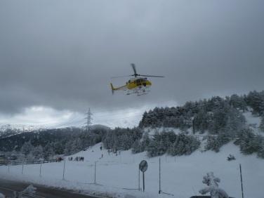 Helicóptero nieve
