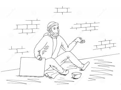 Dibujo mendigo 2